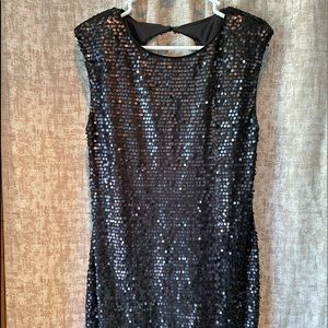 Great condition sequined black dress